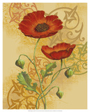 Poppies on Gold II Posters by Louise Max