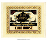 Crackled Clubhouse Cigars Posters
