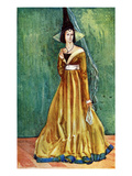 Woman&#39;s Costume in Reign of Edward IV (1461-1483) Giclee Print by Dion Clayton Calthrop