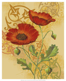 Poppies on Gold I Prints by Louise Max