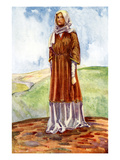 Woman&#39;s Costume in Reign of William I Giclee Print by Dion Clayton Calthrop