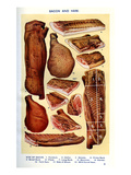 Mrs Beeton's Cookery Book - Bacon and Ham Reproduction procédé giclée