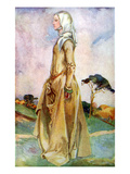 Woman&#39;s Costume in Reign of Henry II (1154 -1189) Giclee Print by Dion Clayton Calthrop