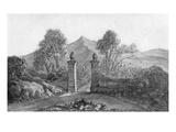 Johann Wolfgang Von Goethe's Sketch of Garden Gates Giclee Print