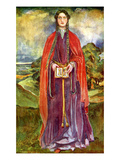 Woman&#39;s Costume in Reign of Henry I Giclee Print by Dion Clayton Calthrop