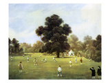 Lords and Gentlemen of Surrey and Kent Playing Cricket Giclée-trykk