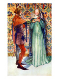Couple&#39;s Costume in Reign of Edward II Giclee Print by Dion Clayton Calthrop