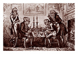 A Game of Chess Giclee Print by George Cruikshank