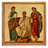 Virgil with Clio and Melpomene Giclee Print