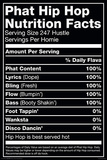 Hip Hop Nutrition Label Print