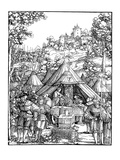 Charles V in a Military Camp Giclee Print by Hans Scheufelin