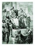 David Declaring God's Promise to Solomon Giclee Print