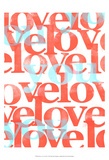 Peace, Love, Joy IV Print by Deborah Velasquez
