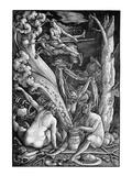 A Witches' Coven Lámina giclée