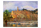 Marina at Monaco Kunstdrucke von Chris Vest