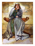 Woman&#39;s Costume in Reign of Richard I Giclee Print by Dion Clayton Calthrop
