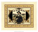 Crackled Cuban Cigars Posters