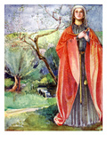 Woman&#39;s Costume in Reign of John (1199 - 1216) Giclee Print by Dion Clayton Calthrop