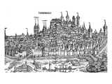 Nurnburg View in the 15th Century Reproduction procédé giclée