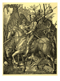 A Knight, the Devil and Death Giclee Print by Albrecht Dürer