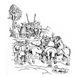 Armed Farmers Plot Amongst Themselves Giclee Print by Hans Tirol