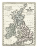 Mitchell's Map of Great Britain & Ireland Giclee Print
