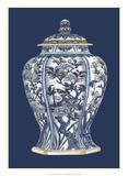 Blue & White Porcelain Vase I Poster