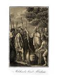 Abraham Is Blessed by Melchizedek Lámina giclée