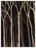 Midnight Birches I Print by Jade Reynolds