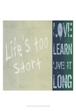 Life&#39;s Too Short Kunst von Andrea James