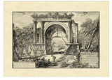 Vintage Roman Ruins II Giclee Print by Giovanni Piranesi