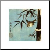 Ohne Titel Aufgezogener Druck von Ando Hiroshige