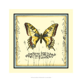 Butterfly and Wildflowers I Giclee Print by Jennifer Goldberger