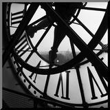 Tom Artin - Hodiny v Orsay Reprodukce aplikovaná na dřevěnou desku