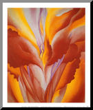 Red Canna Mounted Print by Georgia O'Keeffe