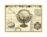 Nautical Map II Poster by Deborah Bookman