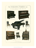 Pianos, Organ & Chairs 1876 Giclee Print