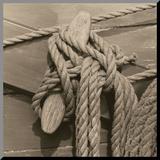 Nautical Aspect IV Druck aufgezogen auf Holzplatte von Michael Kahn
