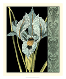 Nouveau Floral in Blue II Giclee Print