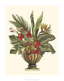 Tropical Foliage in Urn II Giclee Print