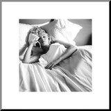 Marilyn Monroe dans son lit Reproduction montée