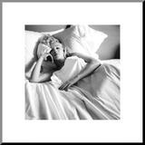Marilyn Monroe: Bed Aufgezogener Druck
