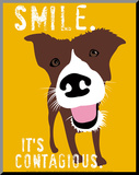 Lächeln, Englisch Druck aufgezogen auf Holzplatte von Ginger Oliphant