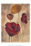 Textured Poppies I Posters by Marietta Cohen
