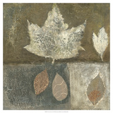 Neutral Leaves I Poster by Elena Ray