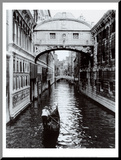Cyndi Schick - Venice Canal Reprodukce aplikovaná na dřevěnou desku