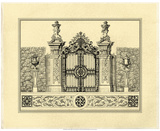 Crackled Grand Garden Gate III Print by O. Kleiner
