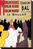 Moulin Rouge Stretched Canvas Print by Henri de Toulouse-Lautrec