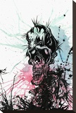 Zombie Splatter Stretched Canvas Print by David Lozeau
