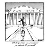 """It looks good from out here, but once you get inside it's pretty sad."" - New Yorker Cartoon Premium Giclee Print by Matthew Diffee"